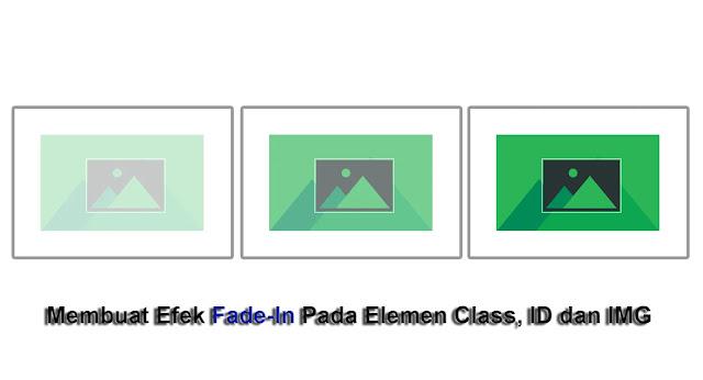 Cara Membuat Efek Fade-In Pada Elemen Class, ID dan IMG