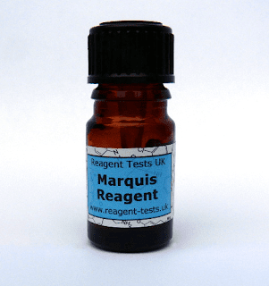 frasco com o reagente de Marquis