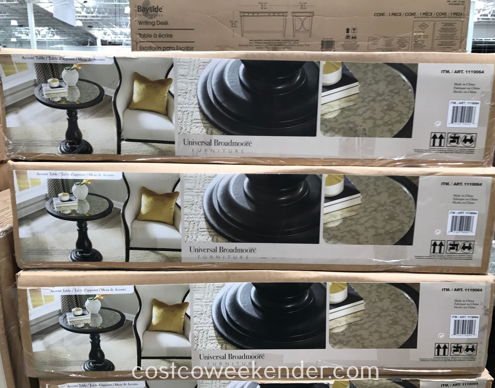 Costco 1119064 - Universal Broadmoore Mirror Top Accent Table: great for any living room