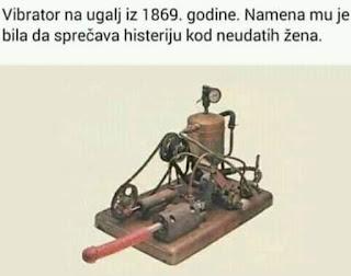 Vibrator na ugalj iz 1869