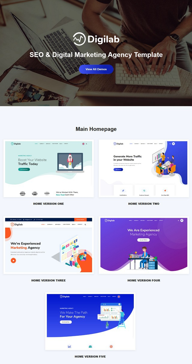 Digital Marketing Agency Template