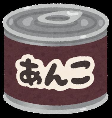 あんこの缶詰のイラスト