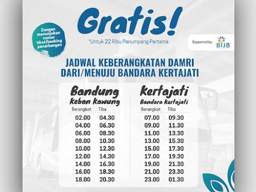 Jadwal bus DAMRI Bandung - BIJB