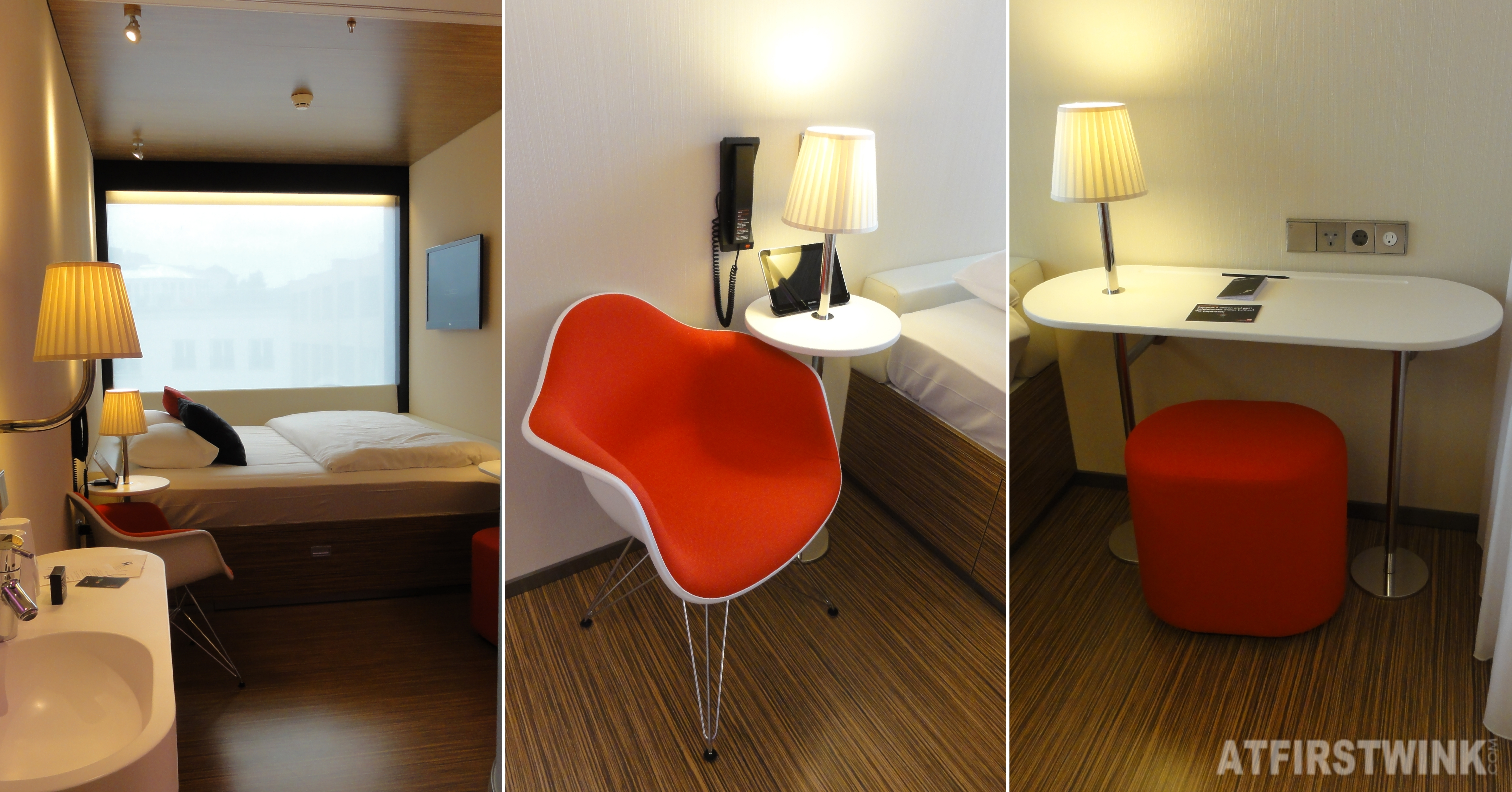 citizenM hotel in Rotterdam king room chair desk