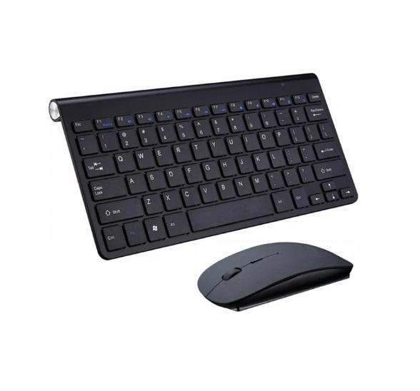 Wireless Keyboard + Mouse Combo Set Multimedia For Notebook Laptop Macbook Desktop PC TV