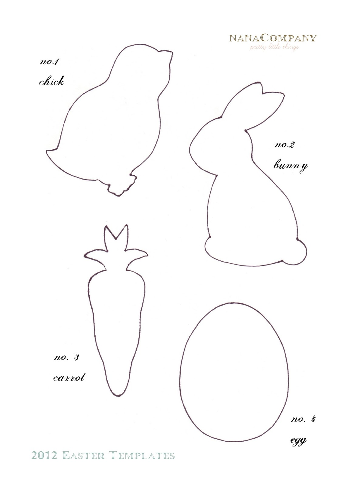 Early play templates free easter animal templates for Bunny rabbit templates free