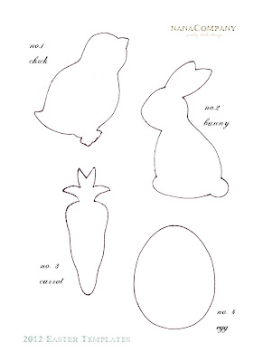 early play templates: Free easter animal templates