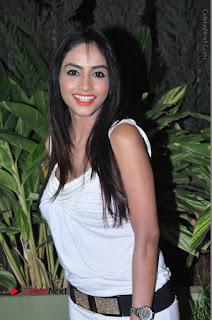 Actress Model Pooja Sri Stills in White Short Dress at F Club pre soft Launch  0062.JPG