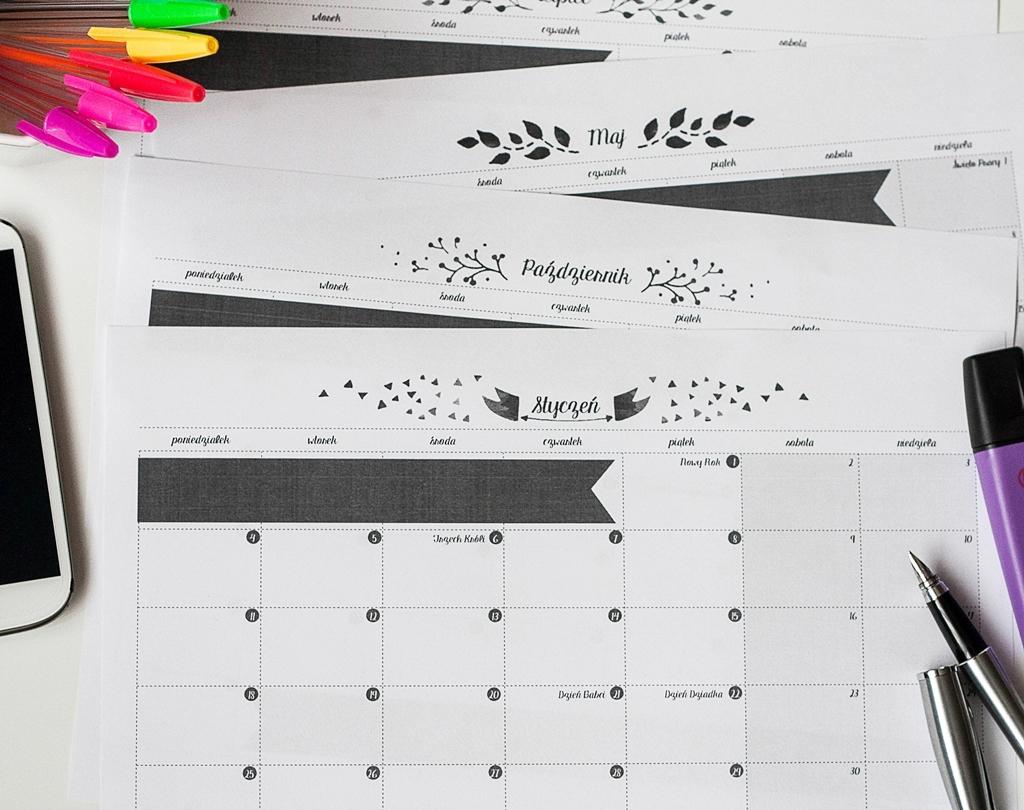 kalendarze 2016 do druku