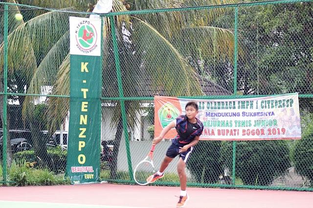 Kejurnas Tenis Yunior Piala Bupati Bogor: Jojo Melenggang ke Semifinal