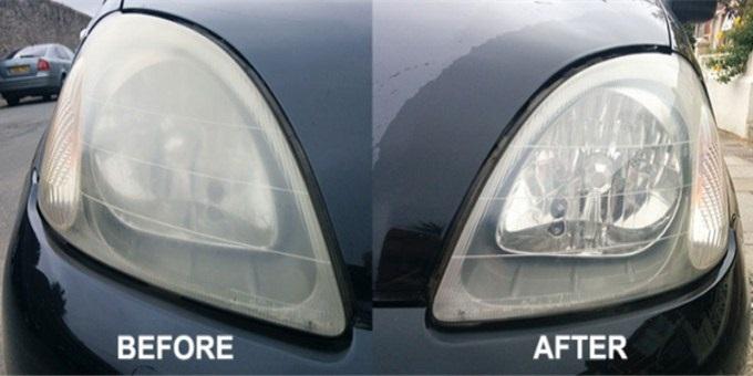 سيارة كرايسلر سيارة فورد سيارات جاكوار  نظافة مصباح السيارة، مرمم المصباح ، ترميم المصباح ، تلميع المصباح ، إصلاح المصباح