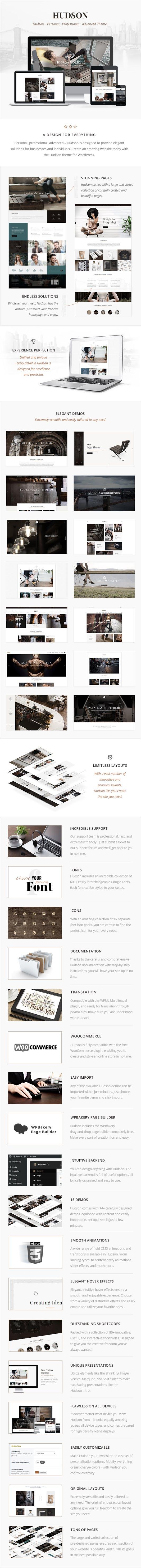 Stylish Business WordPress Theme Review - Hudson