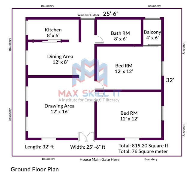 2bhk modern house plan design