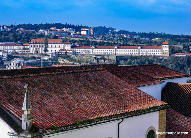 O Convento de Santa Clara-a-Nova visto do paço das Escolas, na Universidade de Coimbra