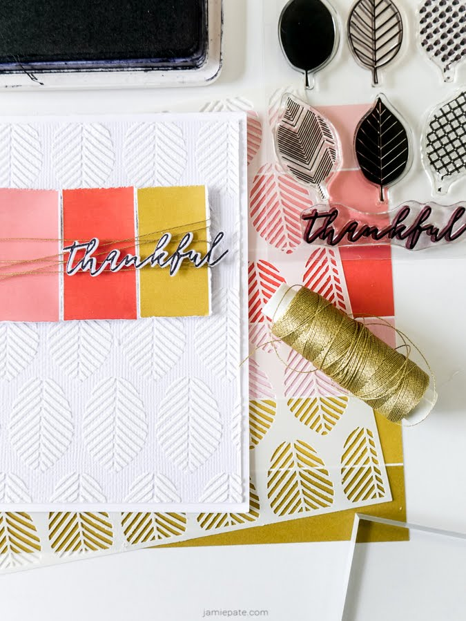 The Stamp Market Fall Card Making Tutorial by Jamie Pate