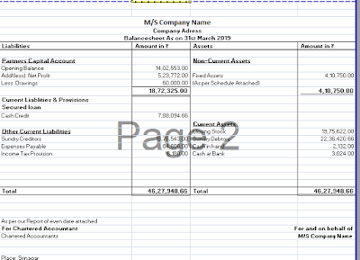 Balance Sheet Format In Excel
