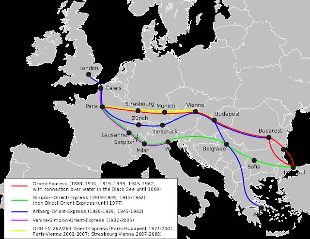 Junho na História - início do Orient Express