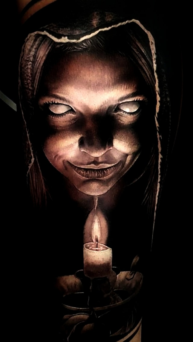 Wallpaper Horror, candela