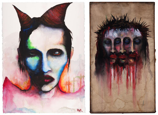 Experience is the Mitress of Fools e Trismegistus, pinturas de Marilyn Manson.