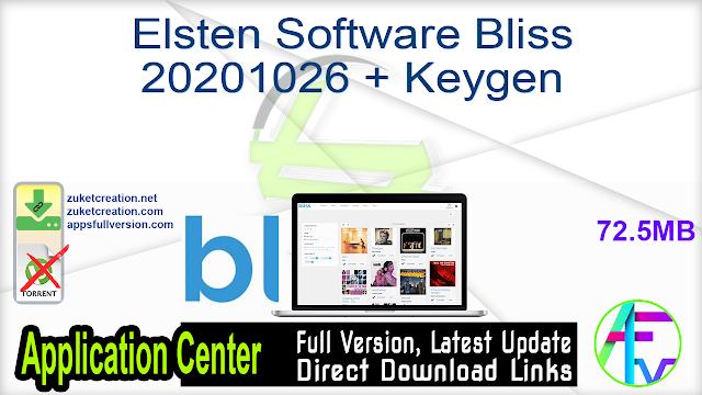 Elsten Software Bliss 20201026 + Keygen