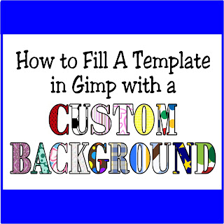 How to fill a template in Gimp with a custom bacgkround by Kims Kandy Kreations