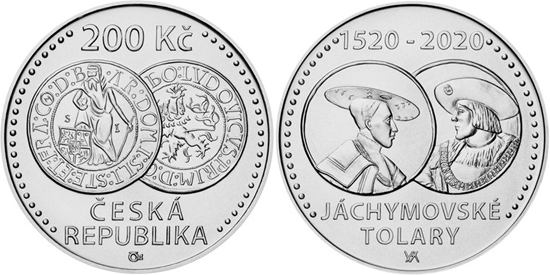 Czech Republic 200 koruna 2020 - 500th anniversary of the Jáchymov thaler