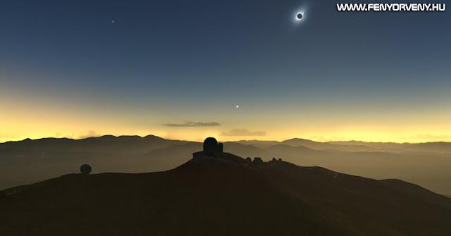 Teljes napfogyatkozás lesz megfigyelhető Dél-Amerika és a Csendes-óceán egyes részein