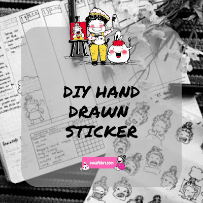 diy handdrawn stickers