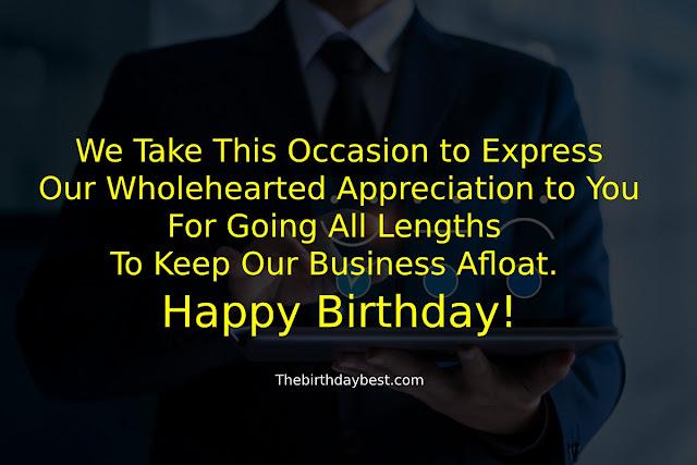 Happy Birthday Wishes to Customer