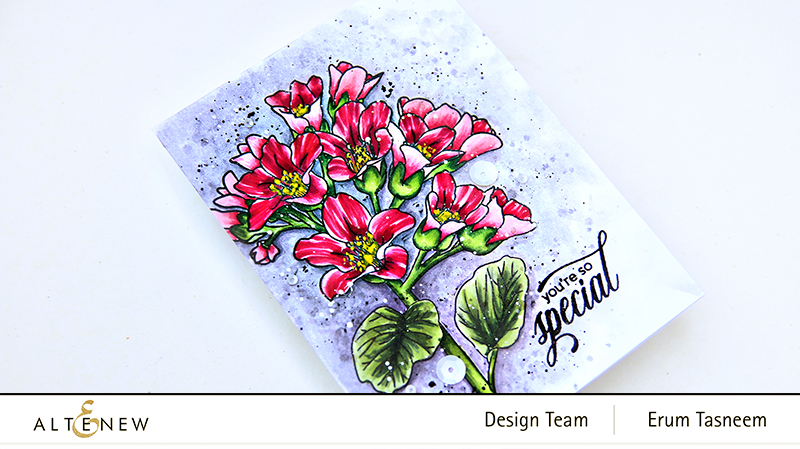 Altenew Bergenia Builder Stamp Set | Erum Tasneem | @pr0digy0