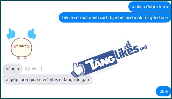 tao danh sach ban be facebook