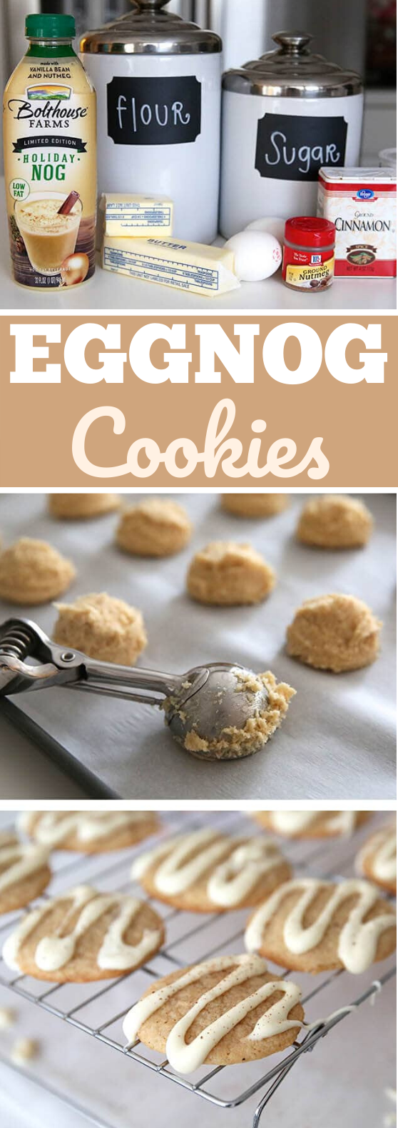 Eggnog Cookies #cookies #recipe #baking #desserts #holiday