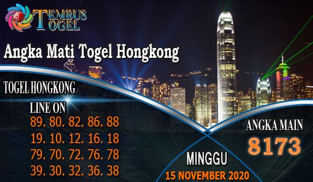 Angka Mati Togel Hongkong Hari Minggu 15 November 2020