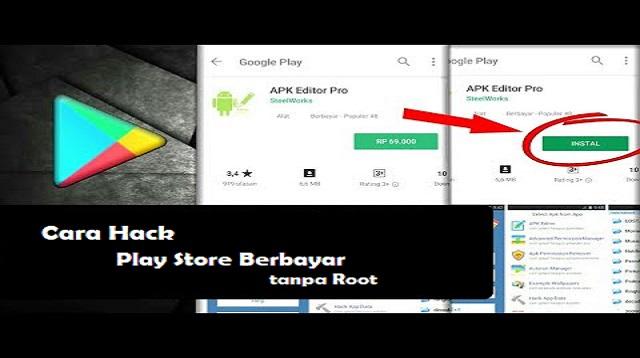 Cara Hack Play Store Berbayar tanpa Root