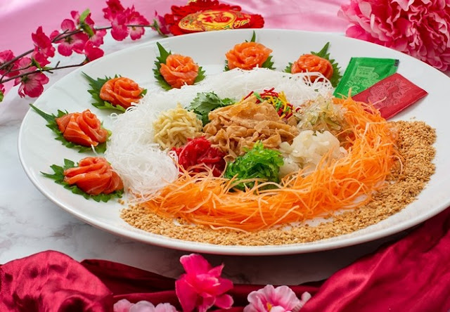 Emperor Treasure Pot Package, Eastin Hotel Kuala Lumpur, Salmon Yee Sang, CNY Menu, CNY 2021, Food