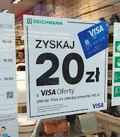 Visa Oferty: 20 zł za zakupy w sklepie Deichmann