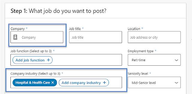 LinkedIn company job postings