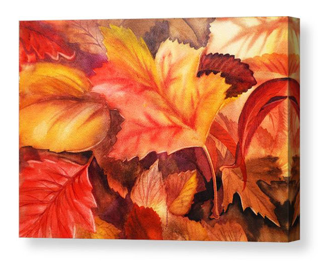 Fall Autumn Abstract Watercolor Painting by the artist Irina Sztukowski