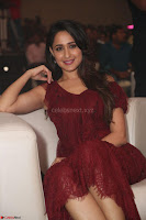 Pragya Jaiswal in Stunnign Deep neck Designer Maroon Dress at Nakshatram music launch ~ CelebesNext Celebrities Galleries 138.JPG