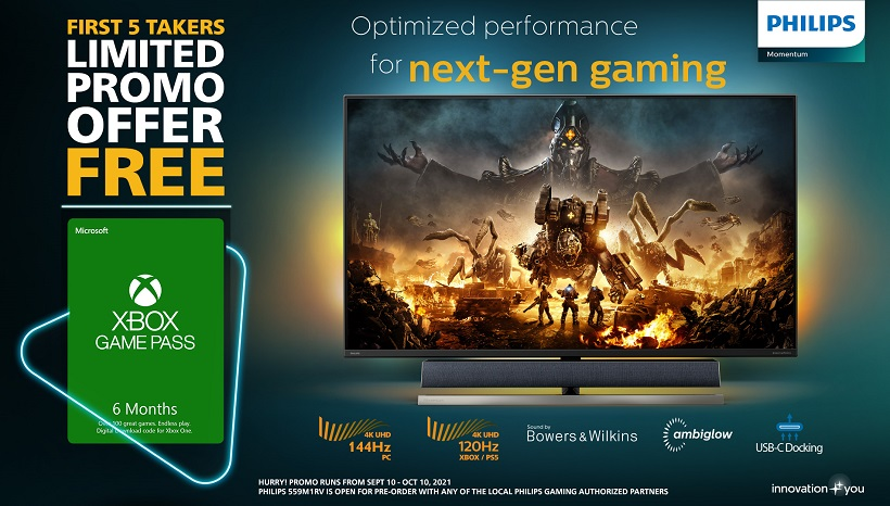 Free 6-Month Xbox Game Pass from Philips Monitors