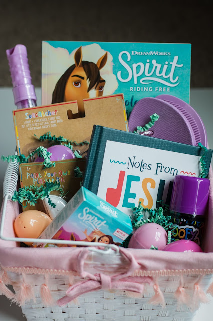 Pretty Easter basket full of goodies