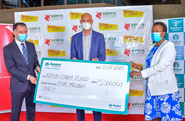 Bamburi Cement donates to the fight against COVID-19