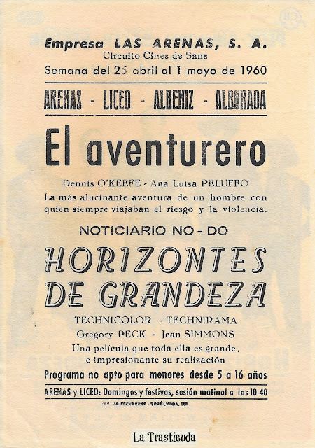 Programa de Cine - Horizontes de Grandeza - Gregory Peck - Jean Simmons - Carrol Baker - Charlton Heston