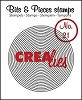 www.crealies.nl Bits & Pieces stempel/stamp no. 21, Circles in circle