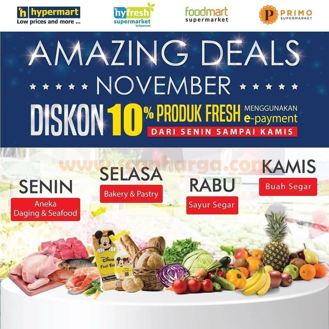 Hypermart Amazing Deals Diskon 10% Produk Fresh menggunakan e-payment