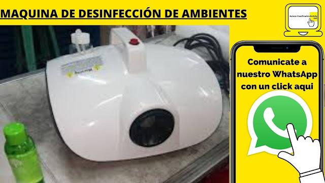 Maquina de desinfección de ambientes