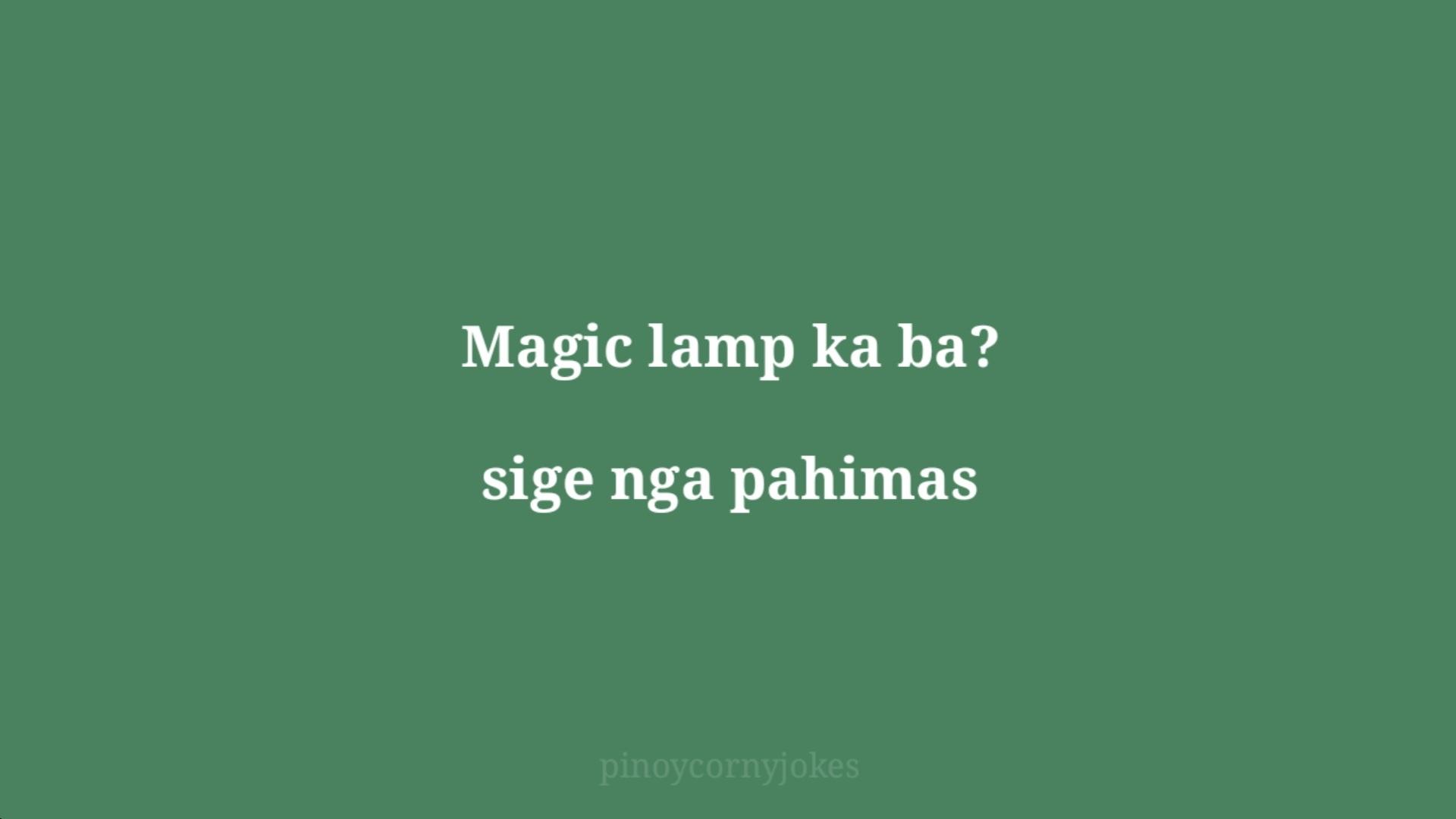 magic lamp green jokes pinoy