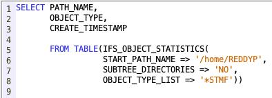 Retrieve Objects present in IFS Directory