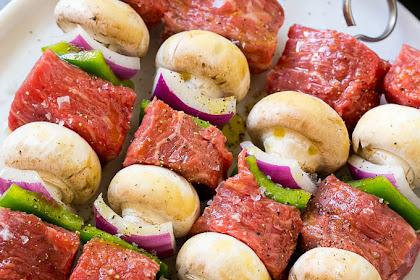 Grilled Steak Kebabs Recipes