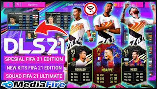 Download DLS Special Mod FIFA 21 Edition Android New Update Winter Transfer & Full Squad All Stars FIFA 21